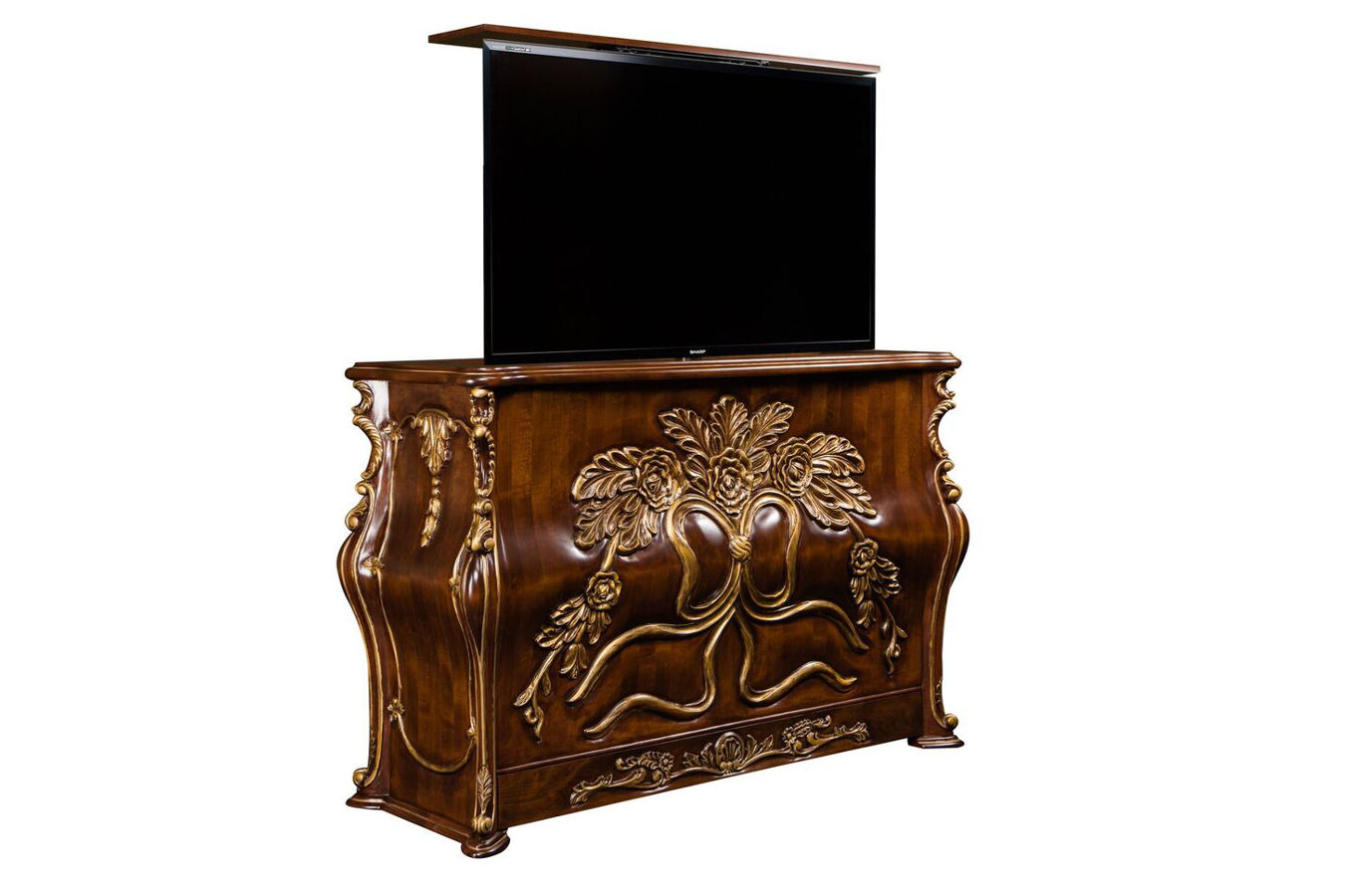 Ribbon Bombay Buffet TV Cabinet with Lift - TV Cabinet Lift TV Cabinet With Lift Ribbon TV Cabinet