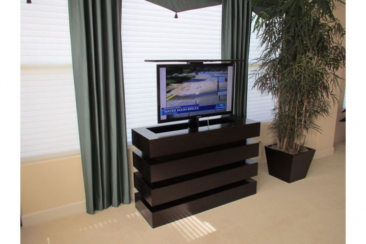 le bloc pop up tv lift furniture in bedroom created by cabinet tronix hidden