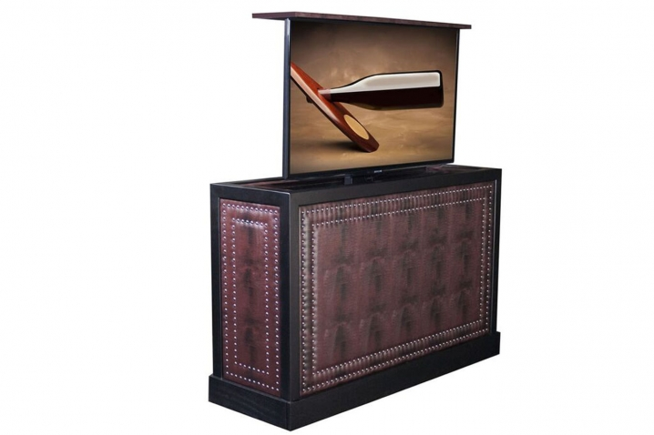 Pop up tv stand sofia custom motorized tv stand - Retractable tv cabinet living room furniture ...
