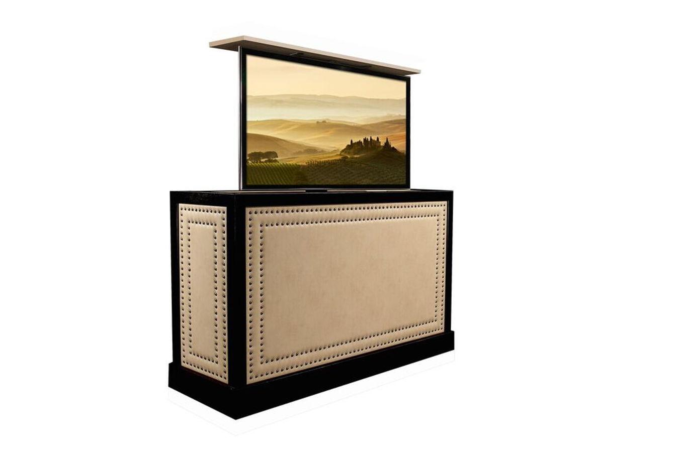 custom designed flat screen tv lift furniture. Black Bedroom Furniture Sets. Home Design Ideas