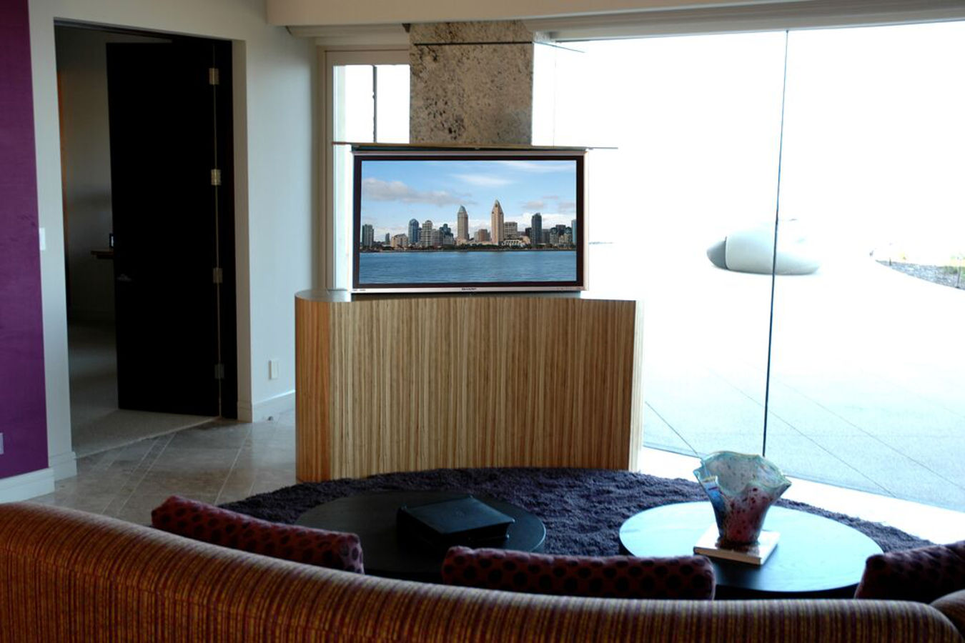 Modern TV lift cabinet center of room Cabinet Tronix