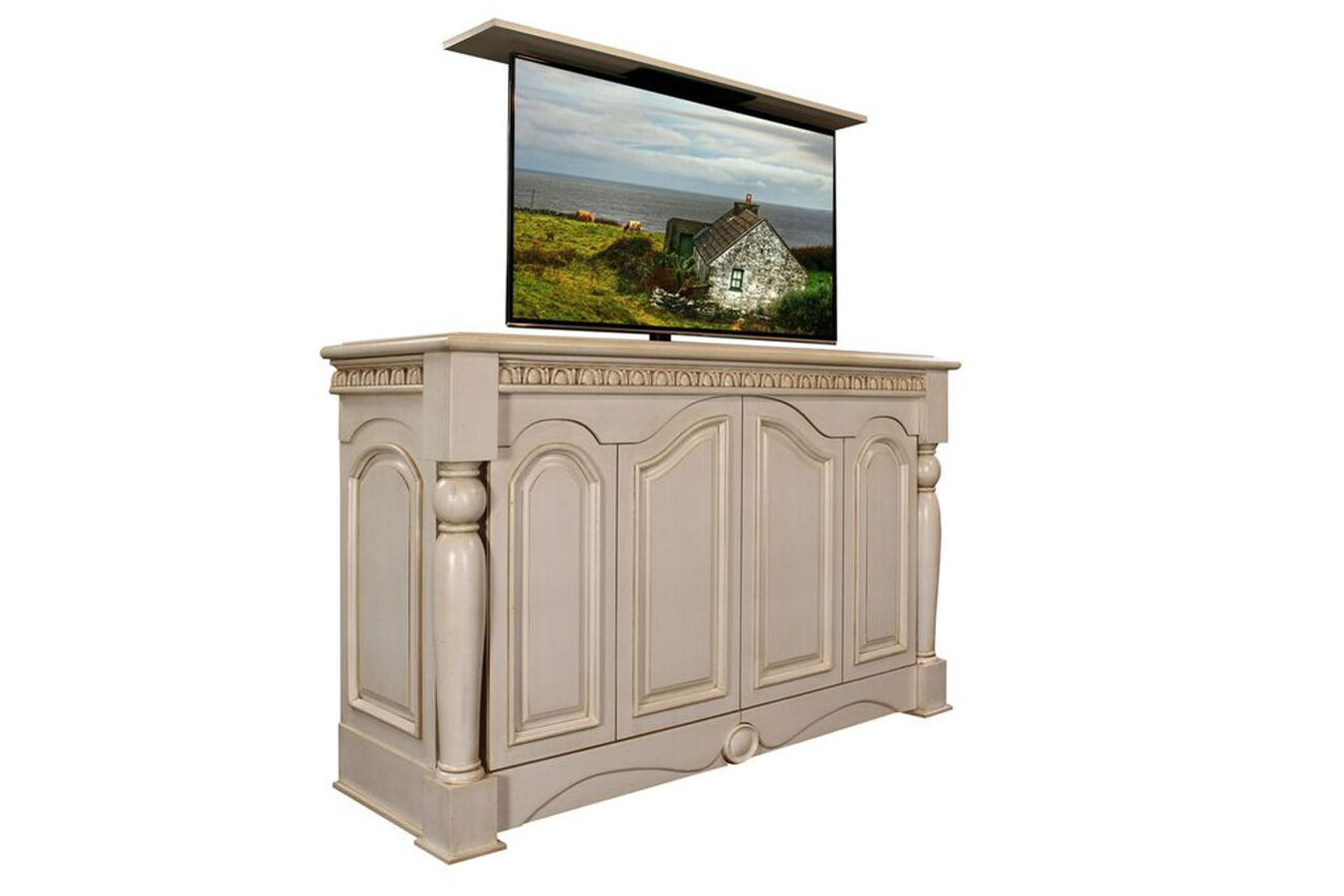 Tv Lift Furniture Country Cottage Motorized Tv Lift Cabinet