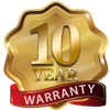 10 year warranty medalliion