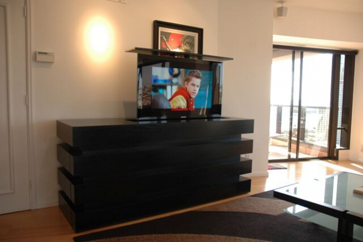 Motorized Flat Screen Tv Lift Cabinets Home Furniture And