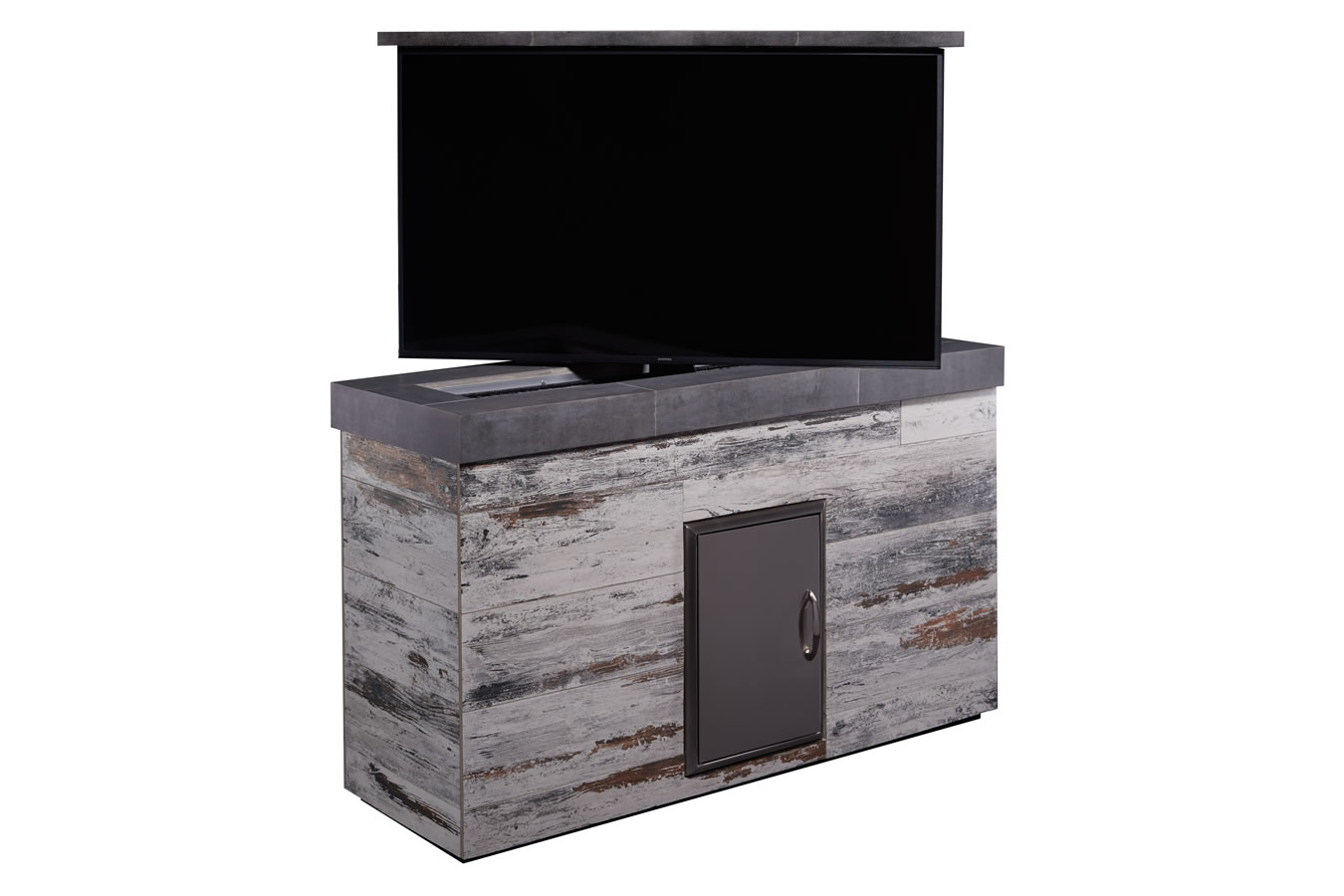 Outdoor mamawood porcelain tile tv lift cabinet furniture for Motorized tv lift with swivel