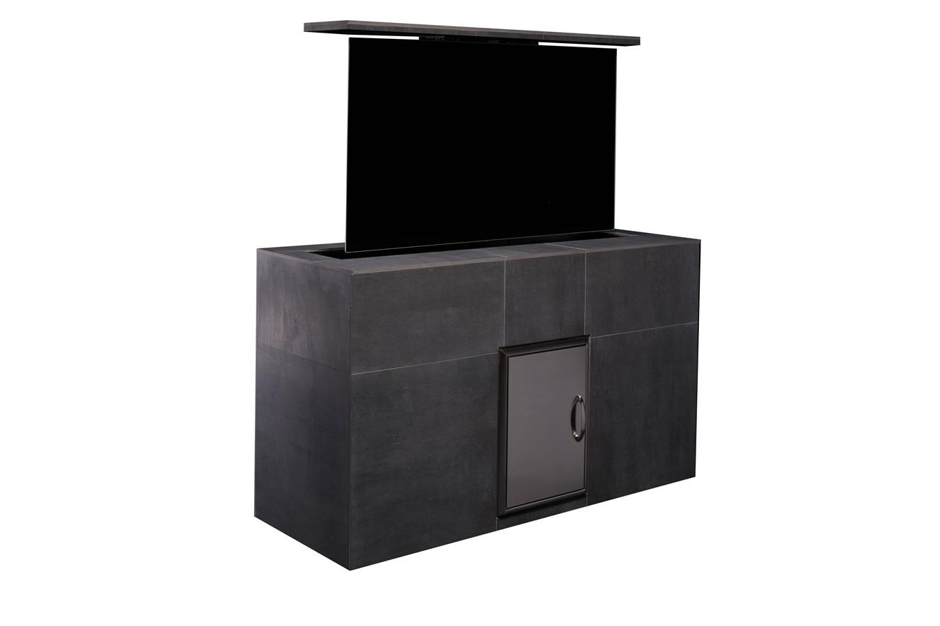 mamawood mantel porcelain tile outdoor tv lift cabinet. Black Bedroom Furniture Sets. Home Design Ideas