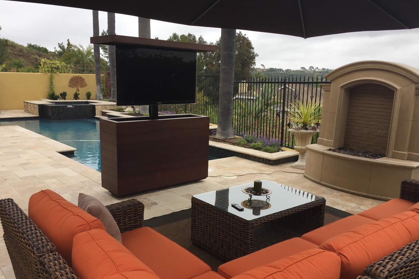 Outside Tv Cabinet Backyard Tv Lift Furniture