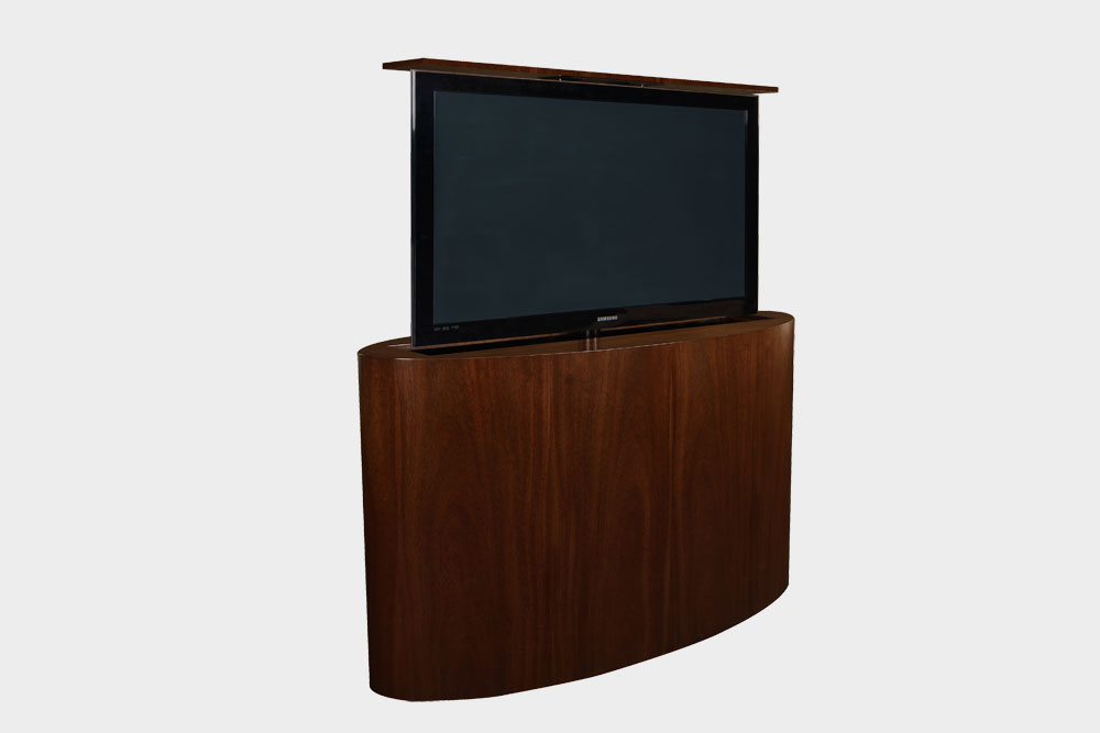 Flat screen tv lift cabinet large flat screen tv lift for Hidden tv cabinets for flat screens
