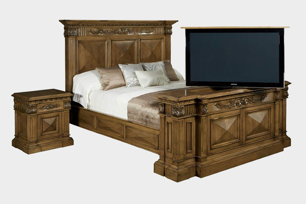belvedere tv lift bedroom set