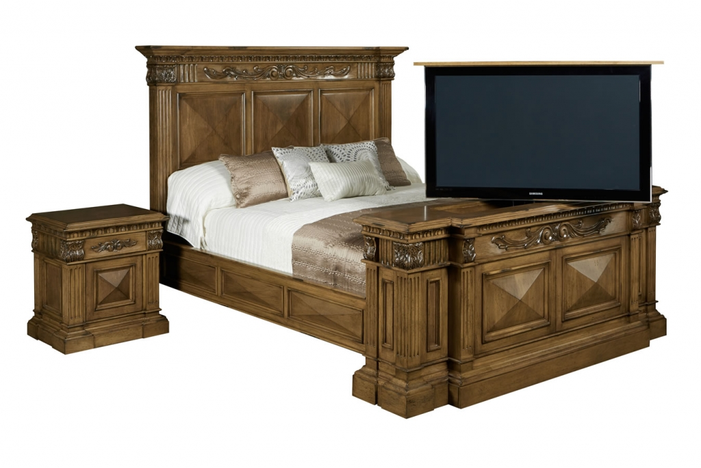 Belvedere custom bed set by Cabinet Tronix
