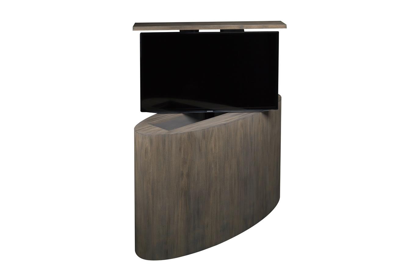 Custom tv lift atlantis oval tv lift cabinet tronix - Retractable tv cabinet living room furniture ...