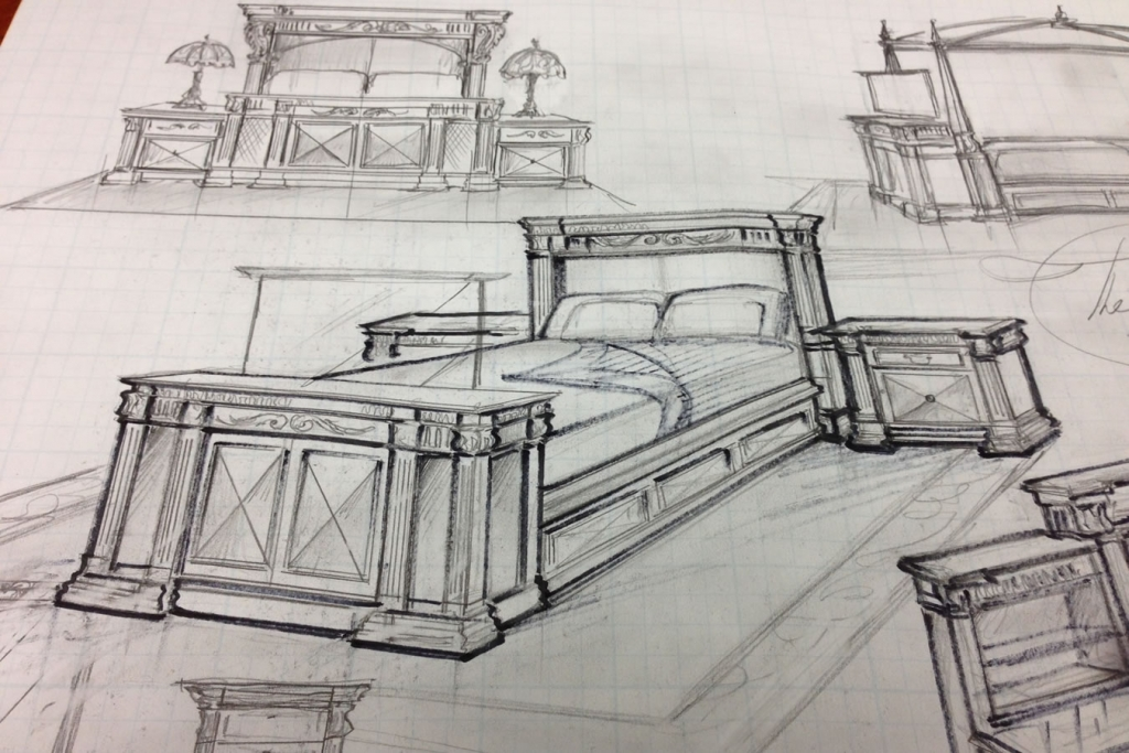 Cabinet Tronix Belvedere bed set drawing