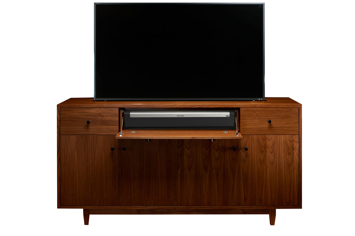 Cabinet Tronix TV lift cabinets hide TV and sound bar