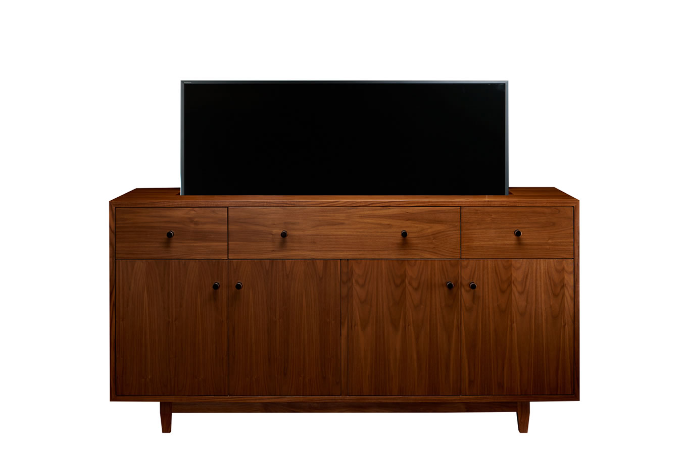Sound bars used with tv lift furniture cabinet tronix for Tv cabinets hidden flat screens