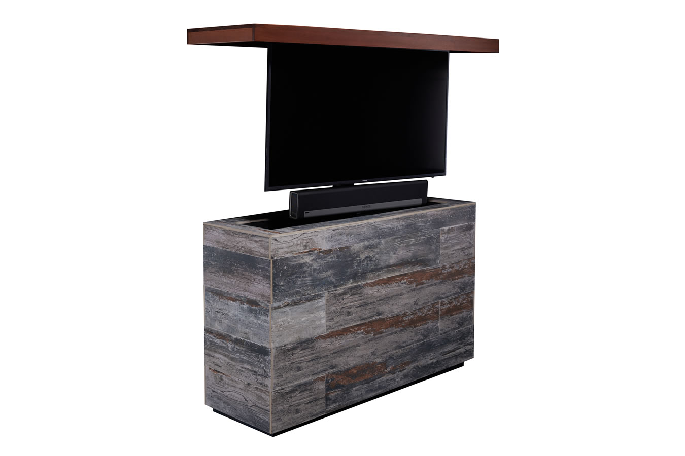 outdoor tv cabinet cumaru mamawood porcelain backyard tv lift. Black Bedroom Furniture Sets. Home Design Ideas