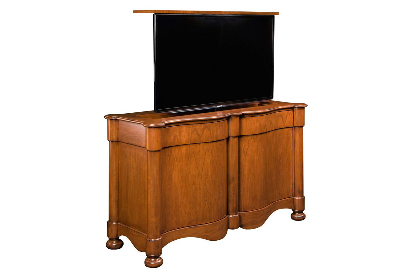 traditional TV lift cabinet that retracts small