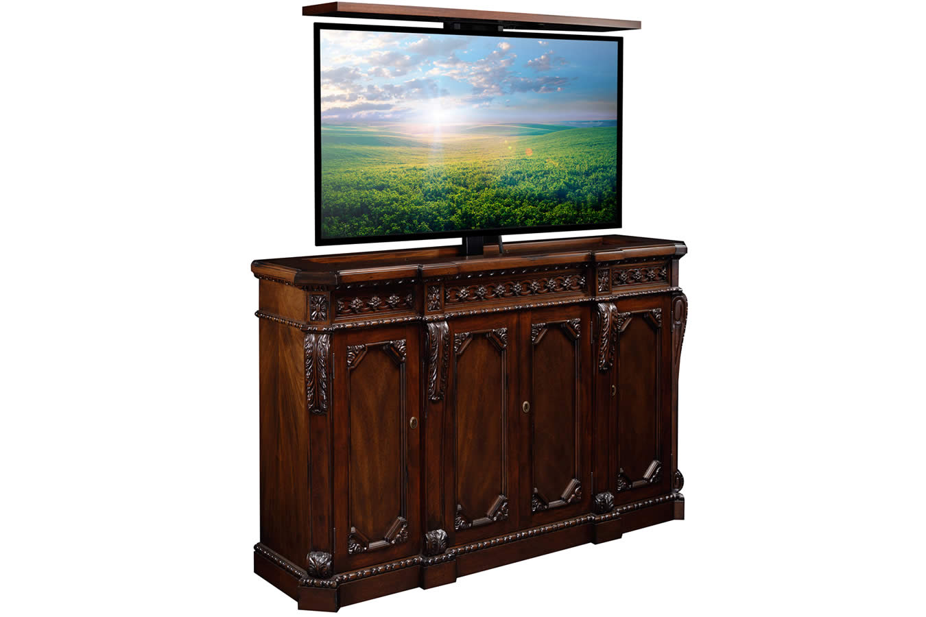 Century TV Lift Furniture three quarter TV up