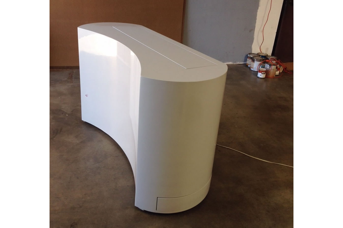 Coast Custom Retractable TV Stand White Finish