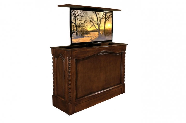 Coronado Designer quality remote controlled TV Lift cabinet furniture is US Made and comes with a 10 year warranty.