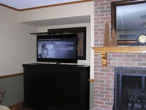 Fireplace nook TV furniture