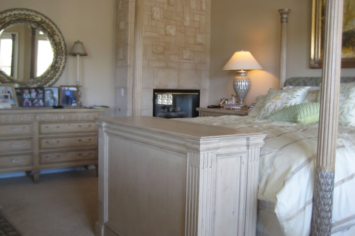 ritz end of the bed television lift cabinet with camden white finish