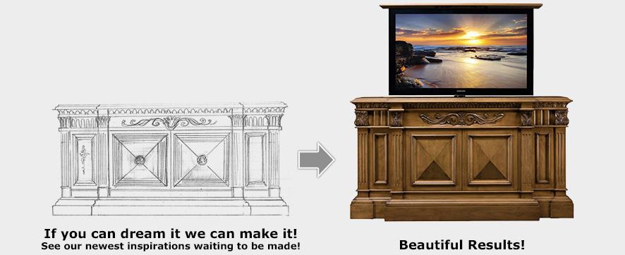 Inspirational TV Lift Designs