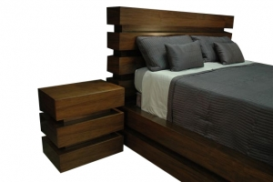 Le Bloc TV Lift Bed Set Night stand and head board