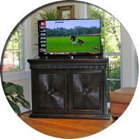 Maximus 2 door TV Lift Cabinet complete