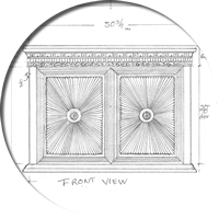 Maximus 2 door TV Lift Cabinet sketch