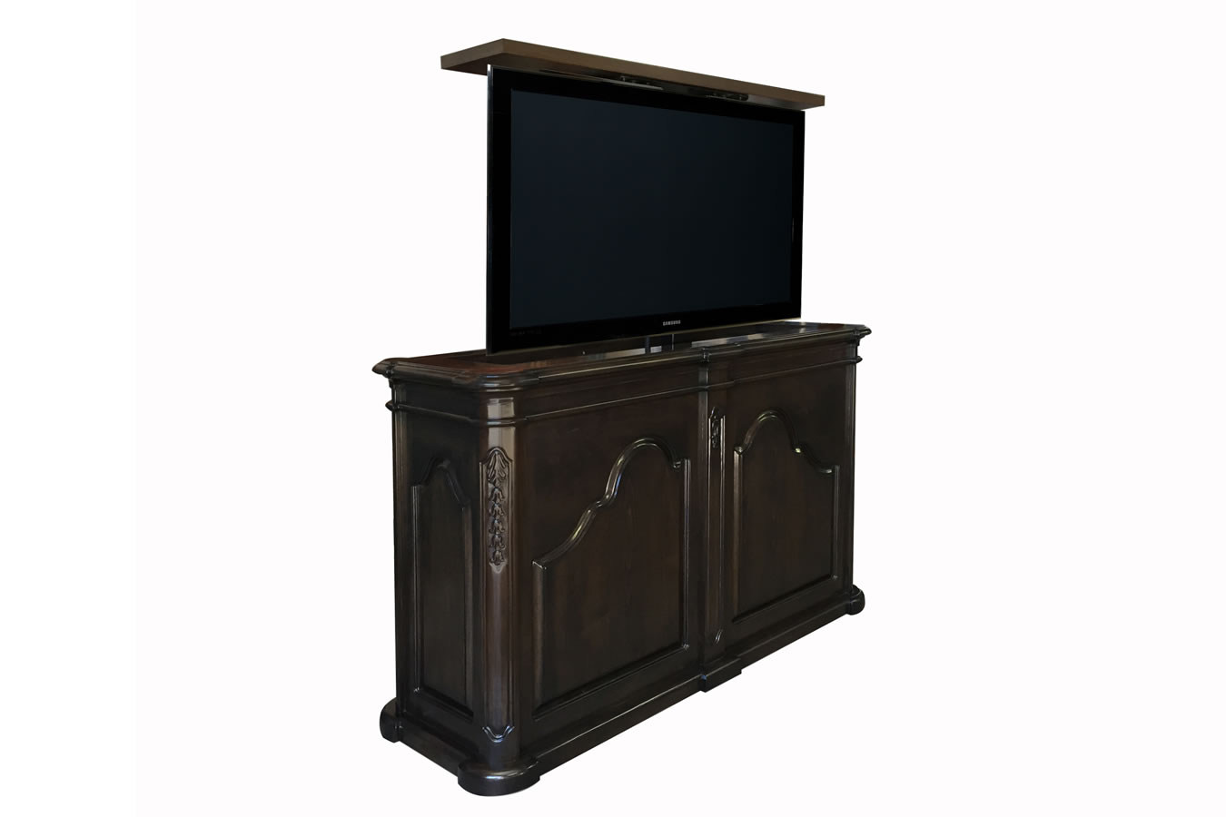 Melrose traditional end of bed TV lift cabinet 55 inch flat screen