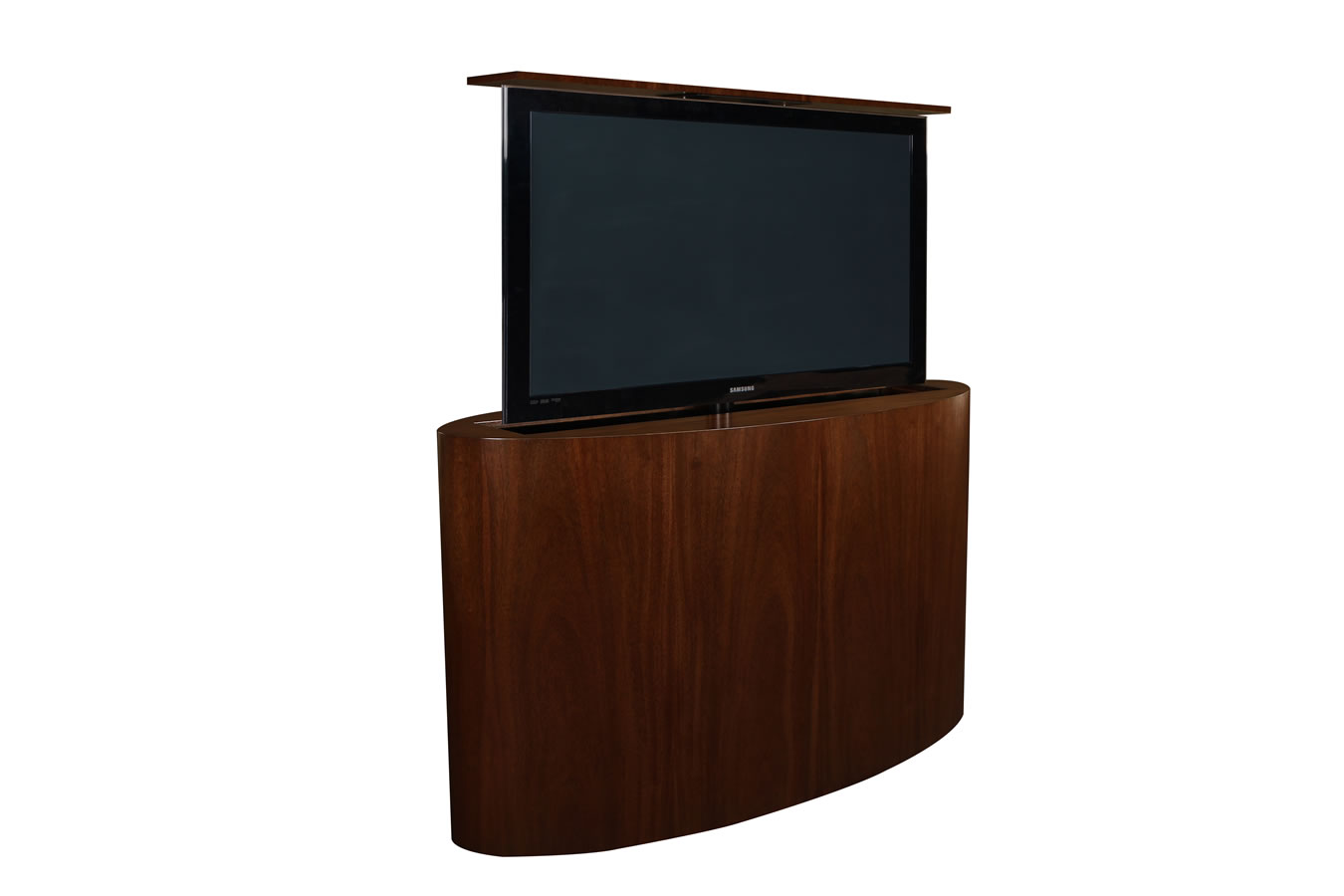 custom tv lift atlantis oval tv lift cabinet tronix. Black Bedroom Furniture Sets. Home Design Ideas