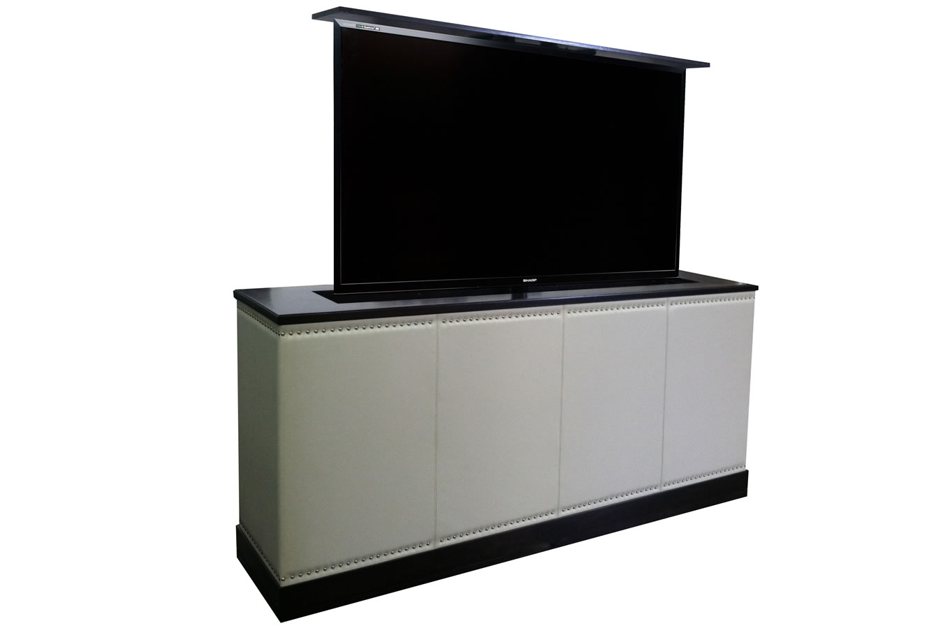 custom designed flat screen tv lift furniture. Black Bedroom Furniture Sets. Home Design Ideas
