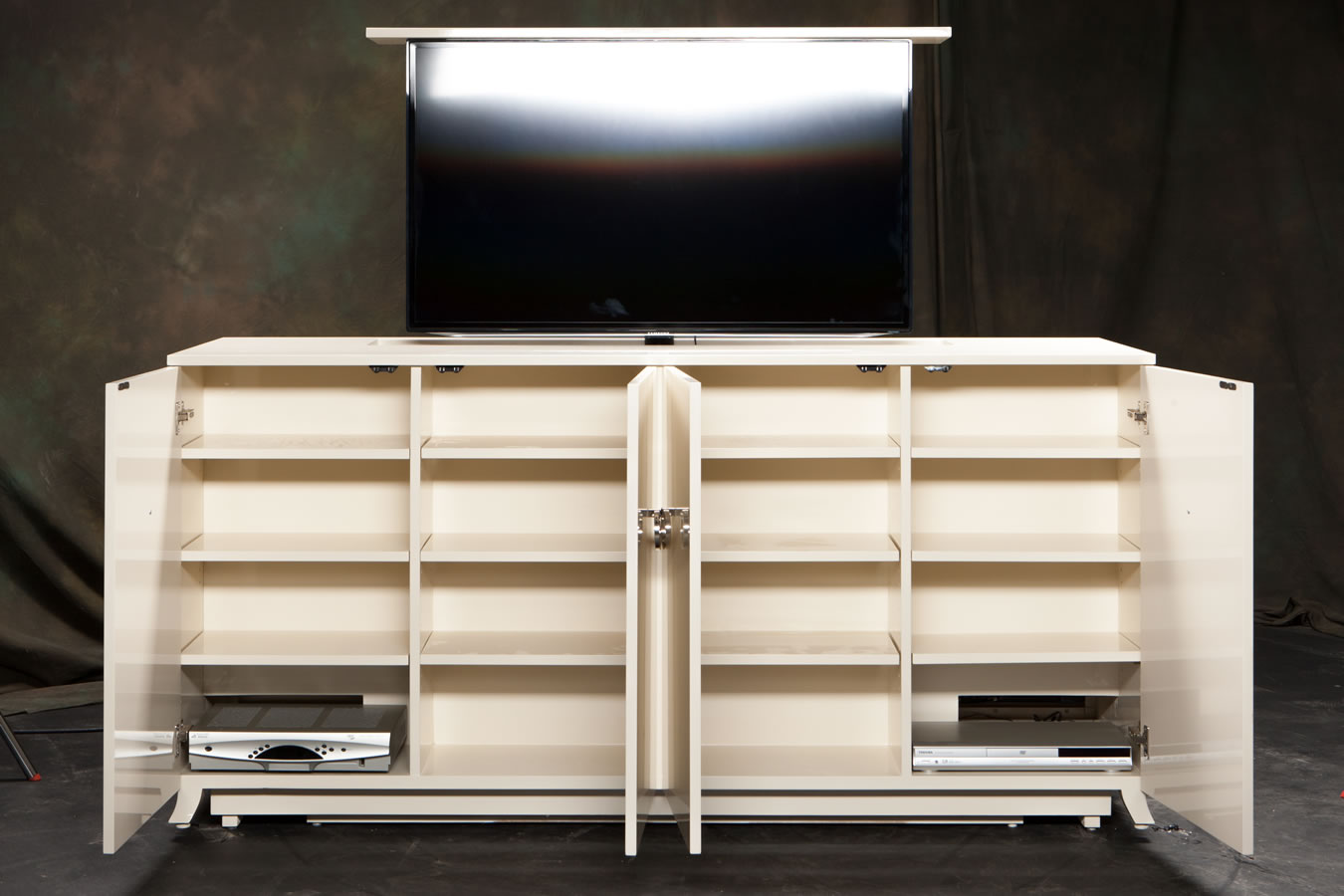 Furniture without tv lifts by cabinet tronix for Designer furniture new york