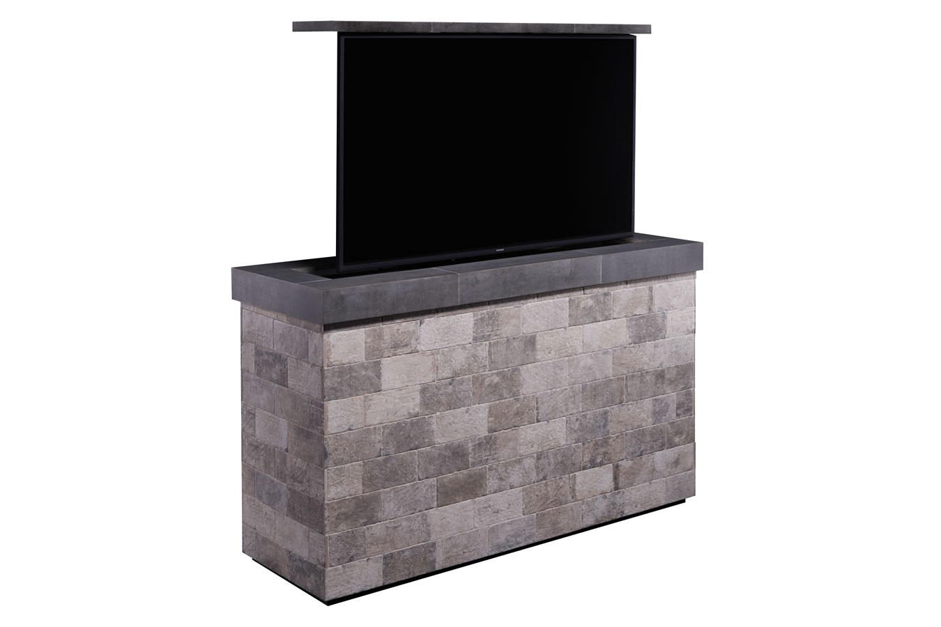 Outside Hidden Tv Motorized Brick Furniture