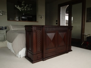 Park Avenue TV cabinet at foot of the bed