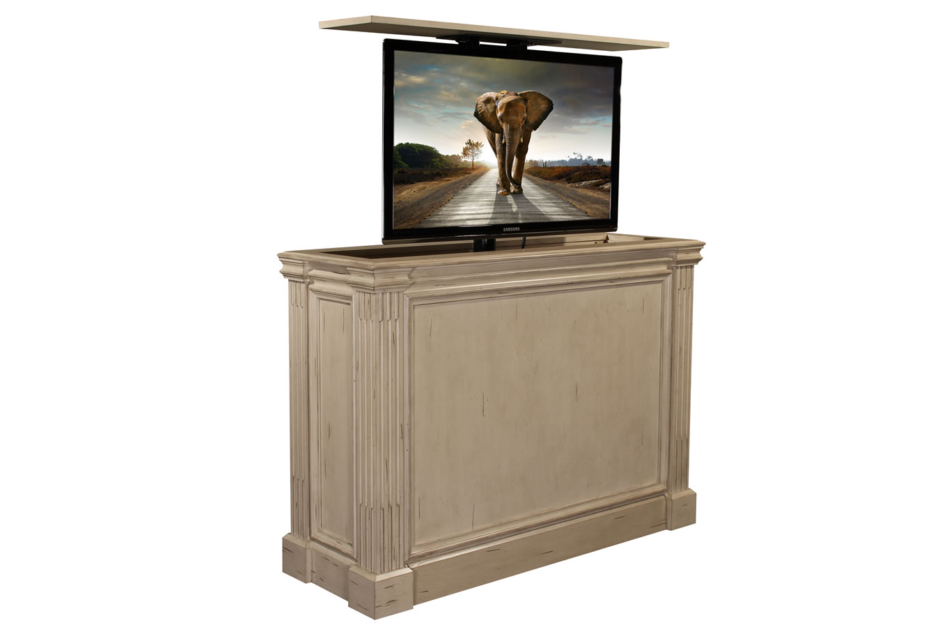 Ritz Camden White Pop up TV lift cabinet