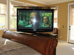 Point loma auburn furniture has TV swiveled