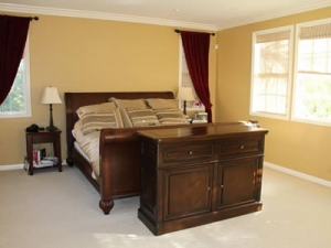 Point loma foot of bed cabinet in Auburn Brown finish