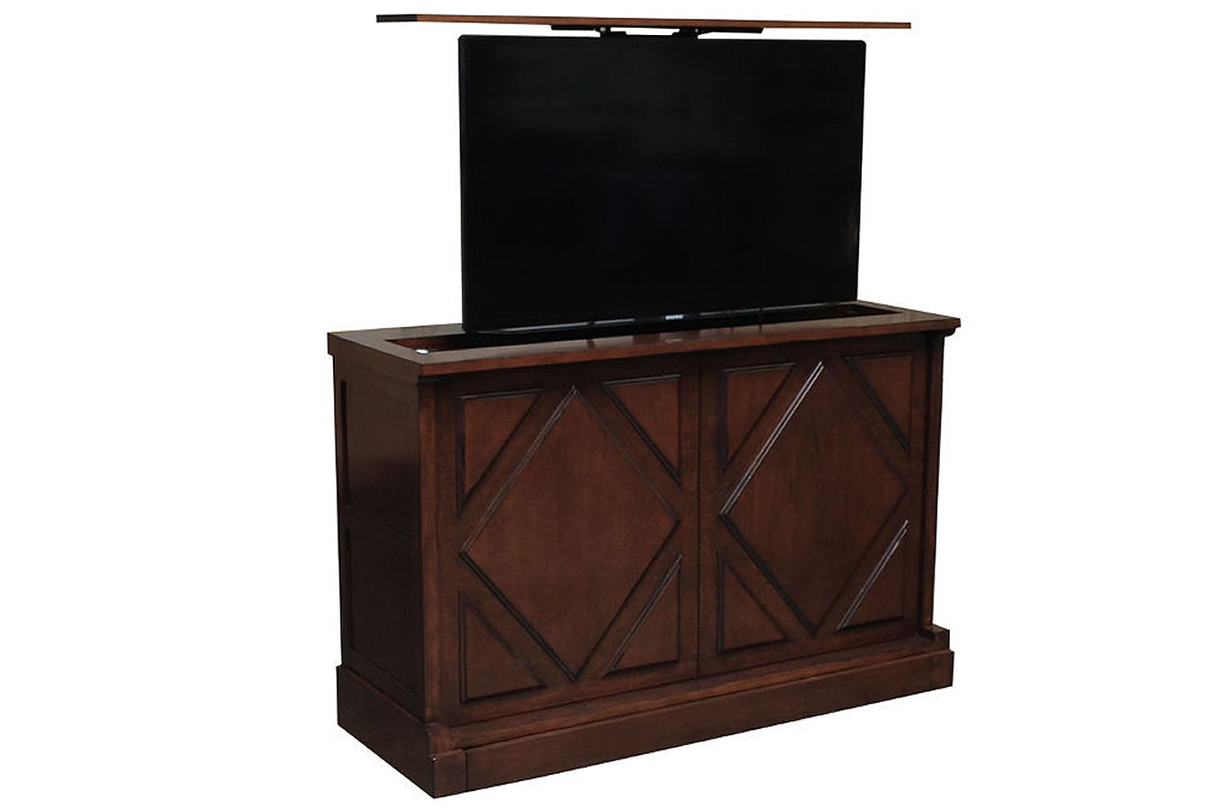 Poncho Villa TV lift furnitureby Cabinet Tronix comes with a 10 year warranty.
