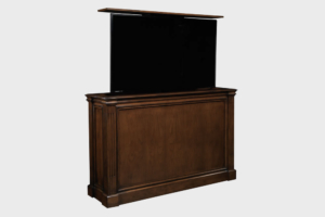 Ritz TV Lift Cabinet with Antique Caramel Finish