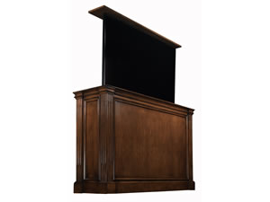 Ritz Wide Screen TV Lift Cabinet with Antique Caramel Finish
