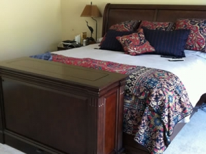 Ritz television console made of mahogany wood