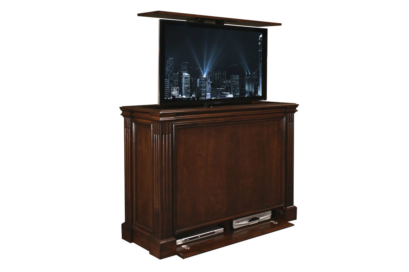 ritz motorized tv lift cabinet at cabinet tronix. Black Bedroom Furniture Sets. Home Design Ideas