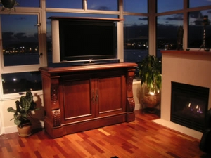 Sabre hand carved furniture with television