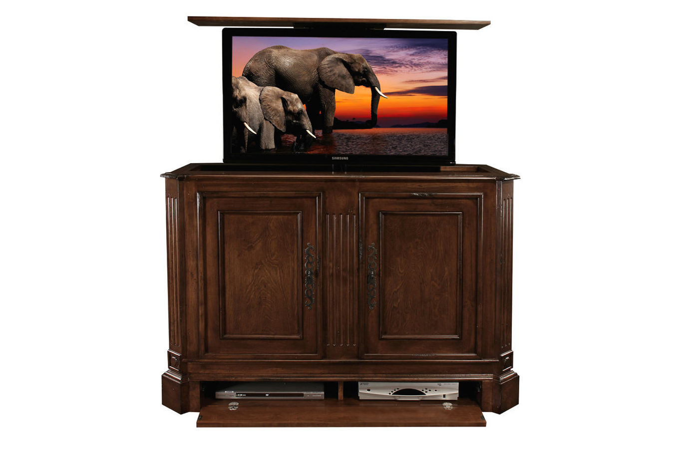 custom tv lift sierra tv lift cabinet cabinet tronix. Black Bedroom Furniture Sets. Home Design Ideas