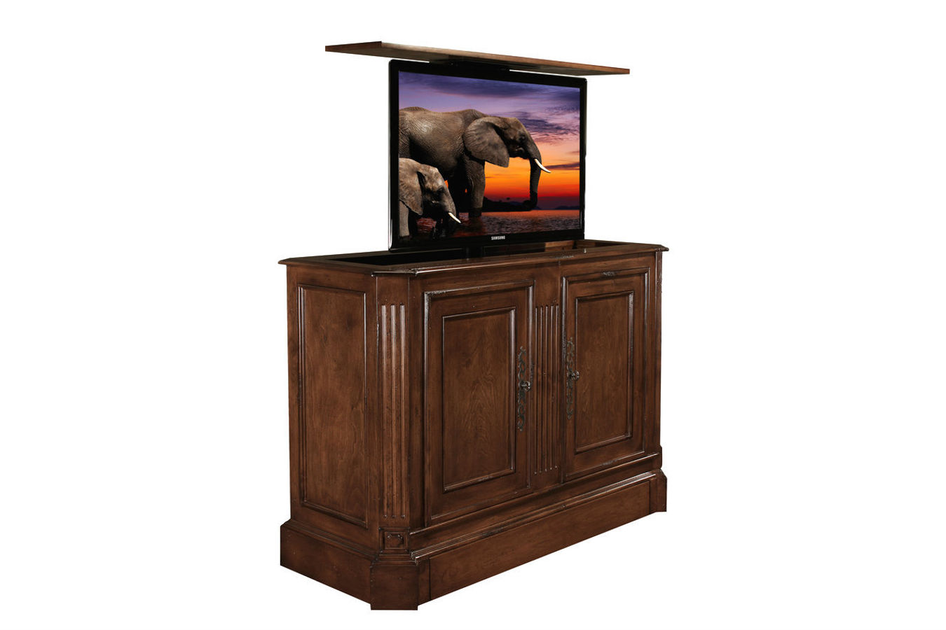 Sierra_TV_Lift_Cabinet_with_Antique_Caramel_finish._Built_by_Cabinet_Tronix__01