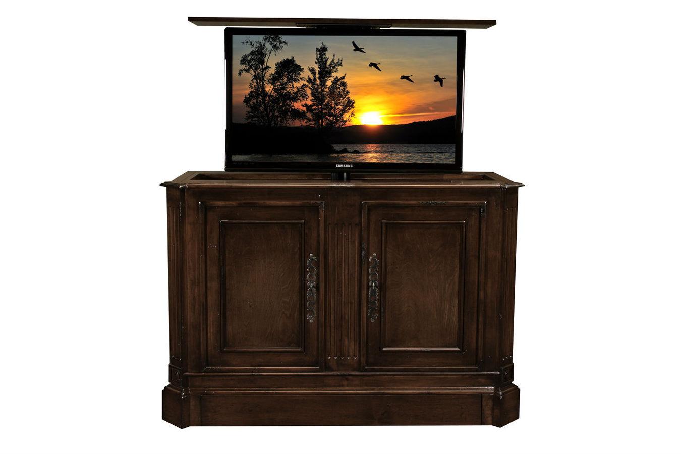 flat screen tv riser sierra tv lift cabinets. Black Bedroom Furniture Sets. Home Design Ideas