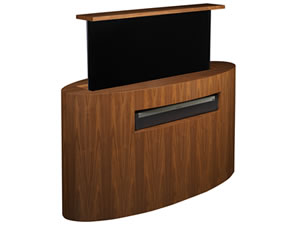 Sonos Playbar on Cabinet Tronix motorized hidden TV lift furniture