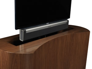 Sonos Sound Bar Playbar with TV lift cabinet