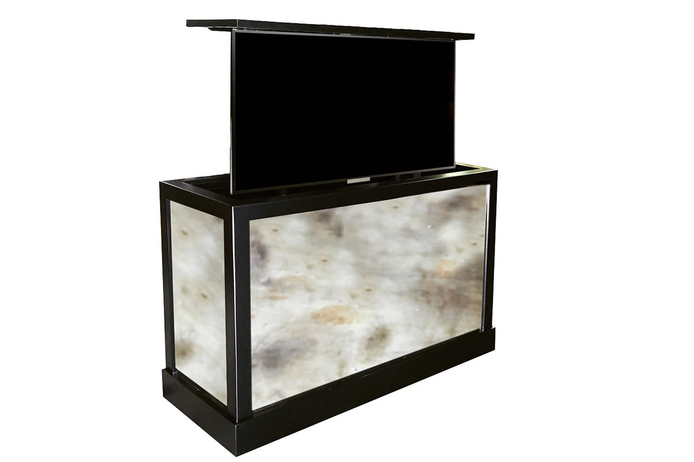 Pop up tv stand sorrento custom motorized tv stand for Motorized tv lift cabinets